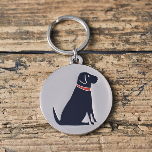 Black Labrador Dog ID Name Tag
