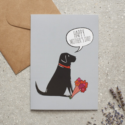 Black Labrador Mother's Day Card
