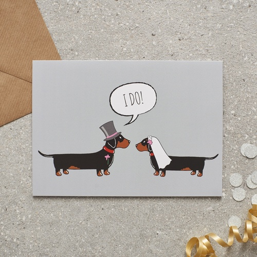 Dachshund / Sausage Dog Wedding Card