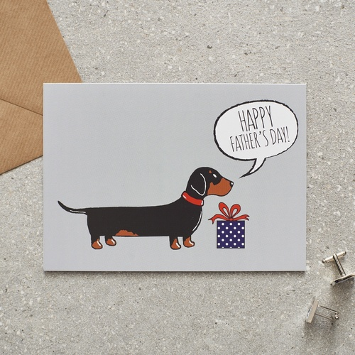 Dachshund Father's Day Card