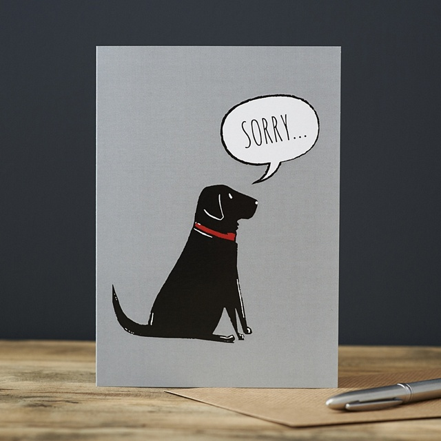 Black Labrador Sorry Card