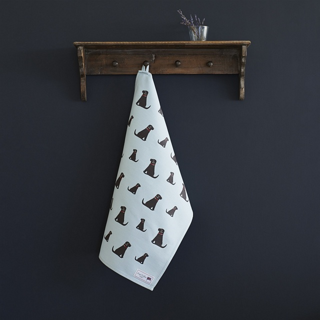 Chocolate Labrador Tea Towel