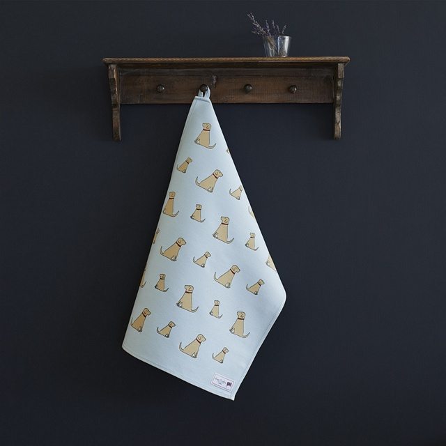 Yellow Labrador Tea Towel