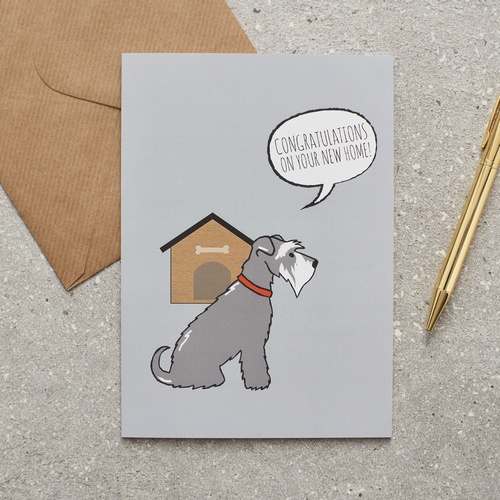 Schnauzer New Home Card