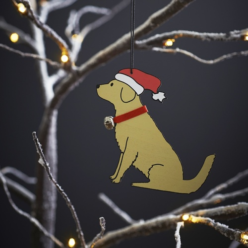 Golden Retriever Dog Christmas Tree Decoration