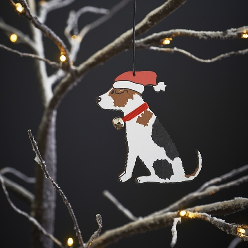 Jack Russell Dog Christmas Tree Decoration