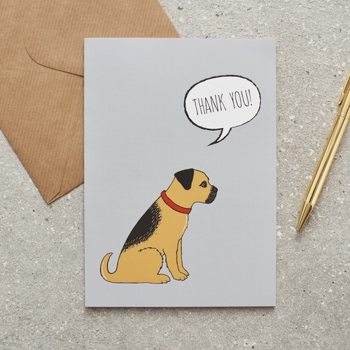 Border Terrier Thank You Card