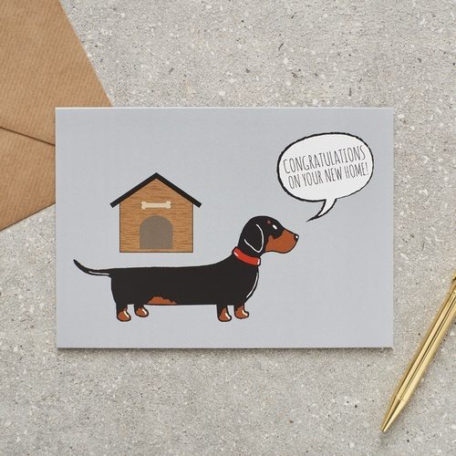 Dachshund / Sausage Dog new home Card