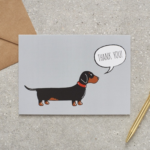 Dachshund / Sausage Dog Thank You Card