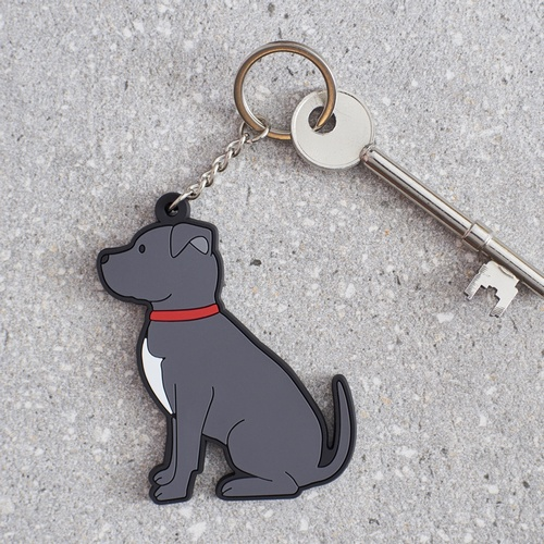 Staffie Key Ring