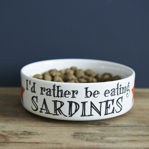 Rather Be Eating Sardines Cat Bowl