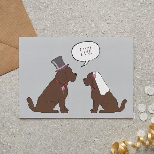 Cockapoo Wedding Card 163 2 75 Mischievous Mutts Greeting