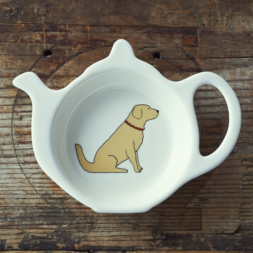 Golden Retriever Teabag Dish