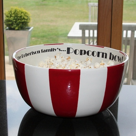 Personalised popcorn bowl Family Mugs