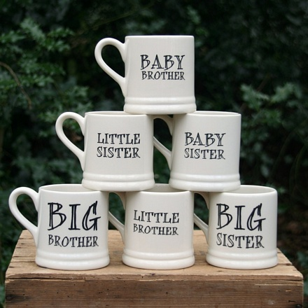 Brother & sister mugs (large) , Family Mugs ,