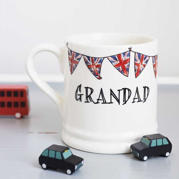 Grandad Mug with Union Jack Bunting