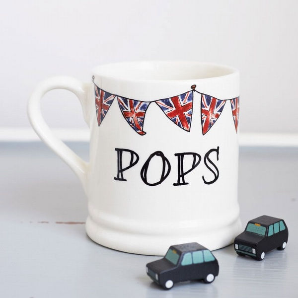 Pops mug with Union Jack Bunting