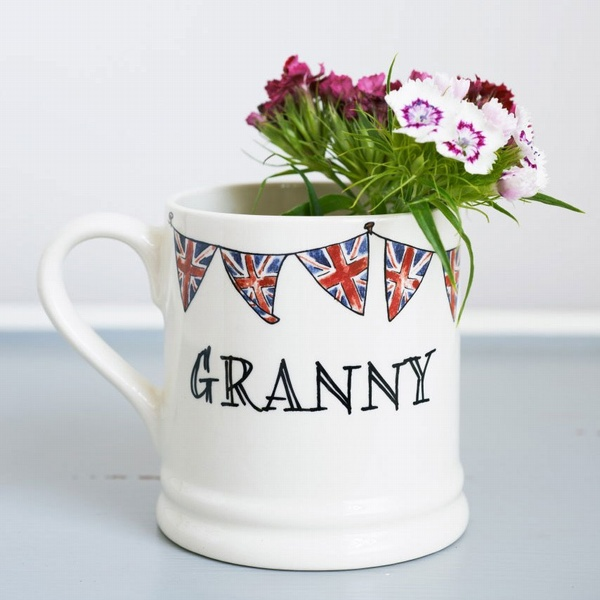 Granny Mug with Union Jack Bunting