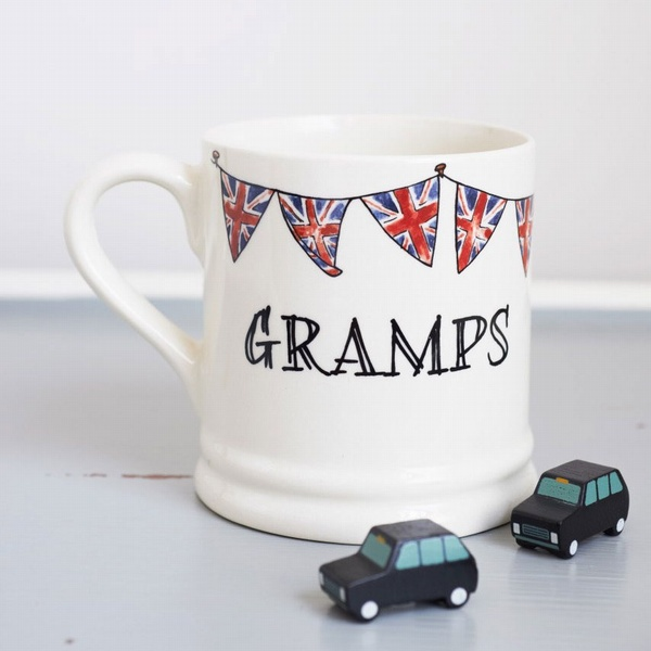 Gramps mug with Union Jack bunting