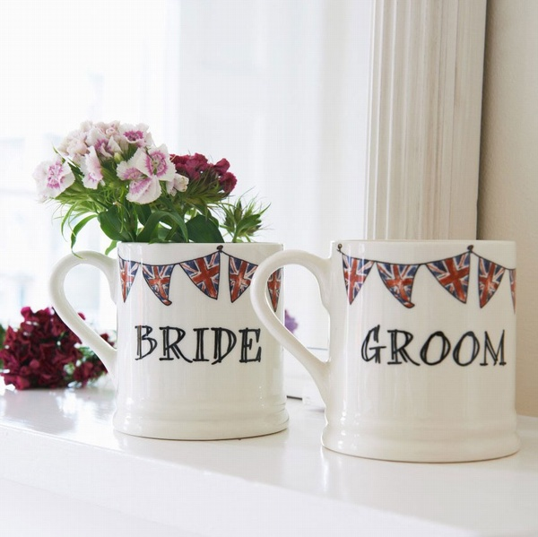 Bride & Groom mugs , Wedding Bells ,