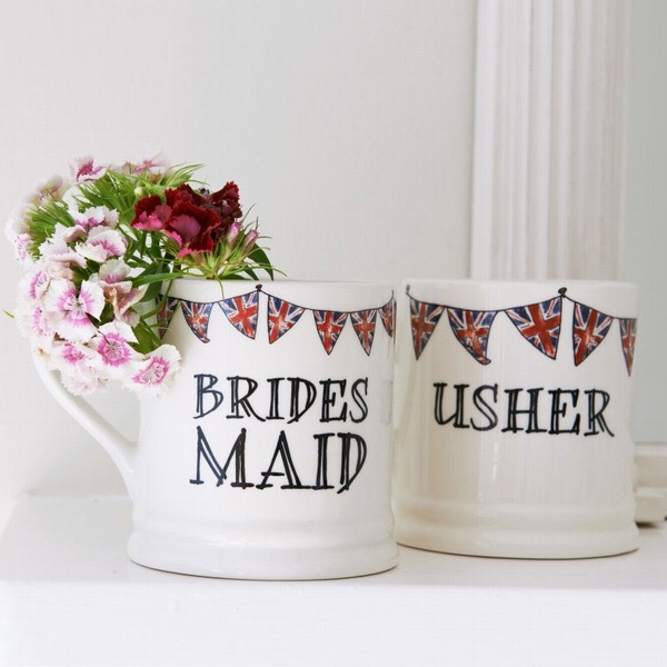 Usher & Bridesmaid gift mugs , Wedding Bells ,