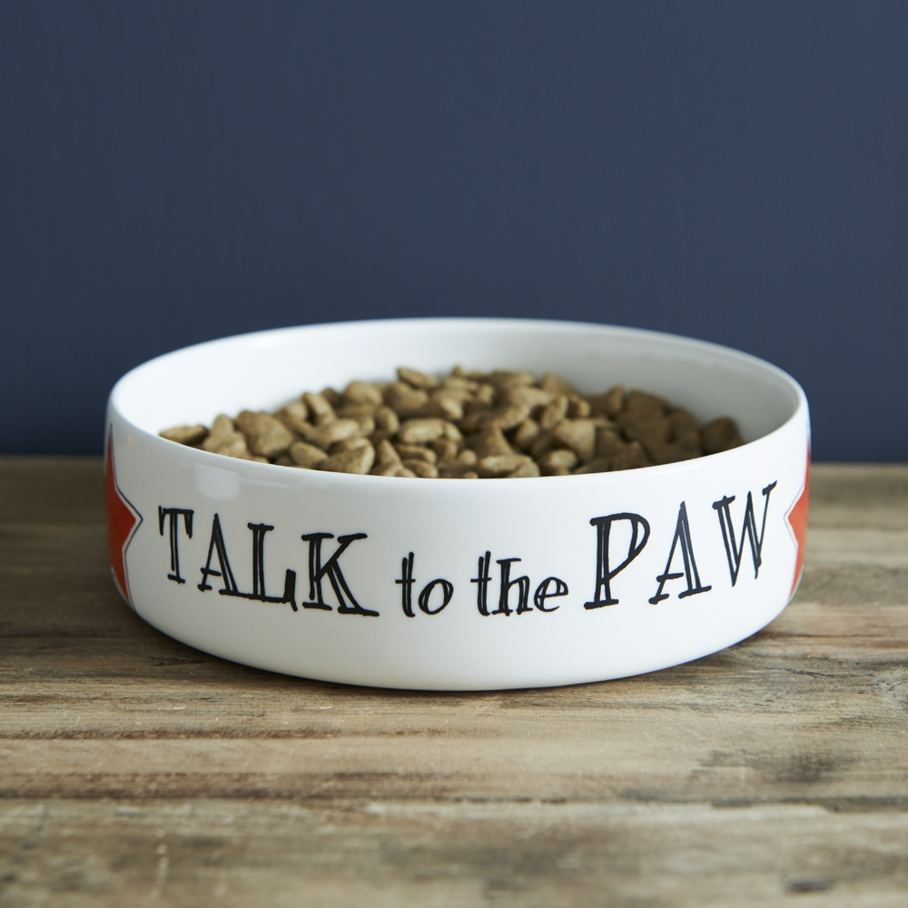 Talk to the Paw Cat bowl , Mutts & Moggies > Cat bowls ,