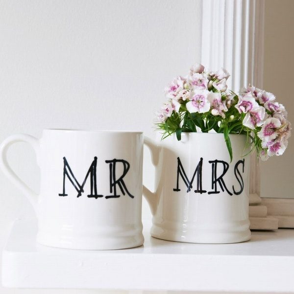 Mr & Mrs mugs , Wedding Bells ,
