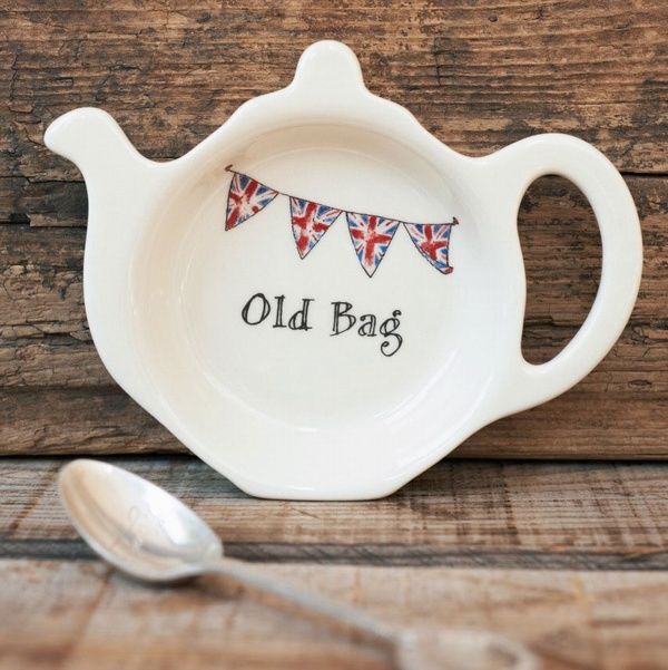 Old Bag Teabag dish , Quintessentially British ,