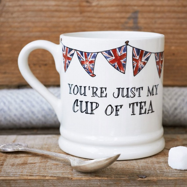 You're just my cup of tea - Bunting Mug , Love Mugs ,
