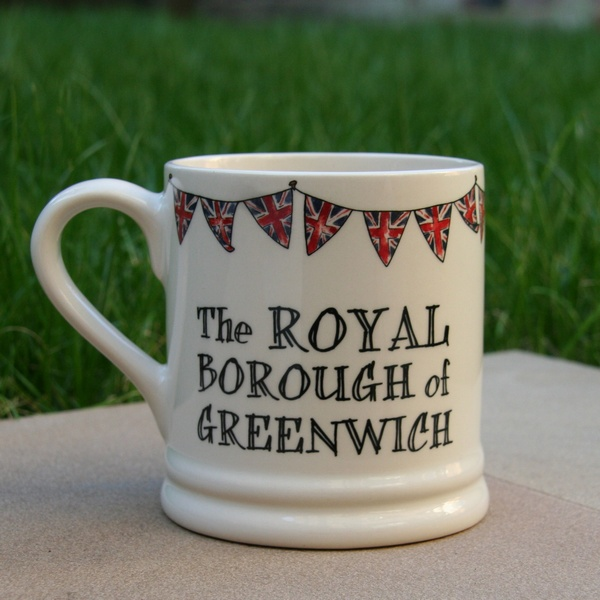 The ROYAL borough of Greenwich mug , Cockney Spirit ,