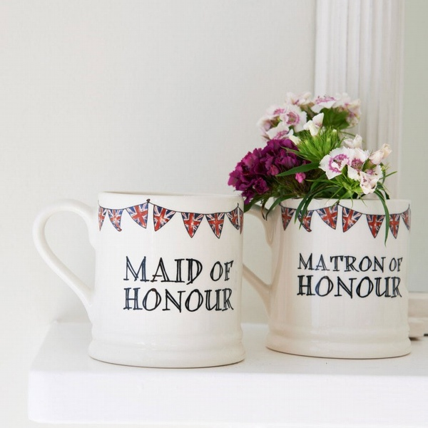 Maid of Honour Gift Mug , Wedding Bells ,