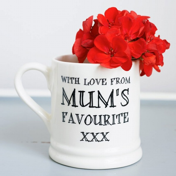 With love from mum's favourite mug , Family Mugs ,