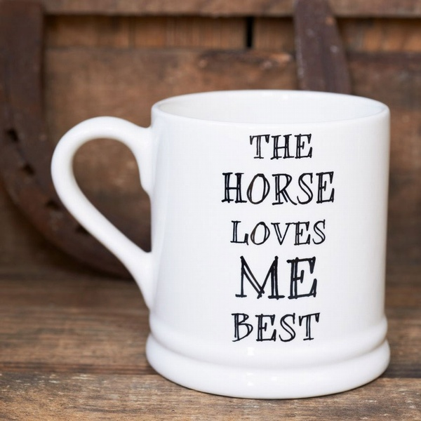 The horse loves me best mug , Mutts & Moggies > Mugs ,