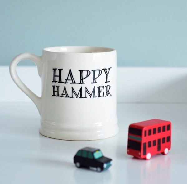 Happy Hammer Mug - West Ham United Fan mug , Football Mugs ,