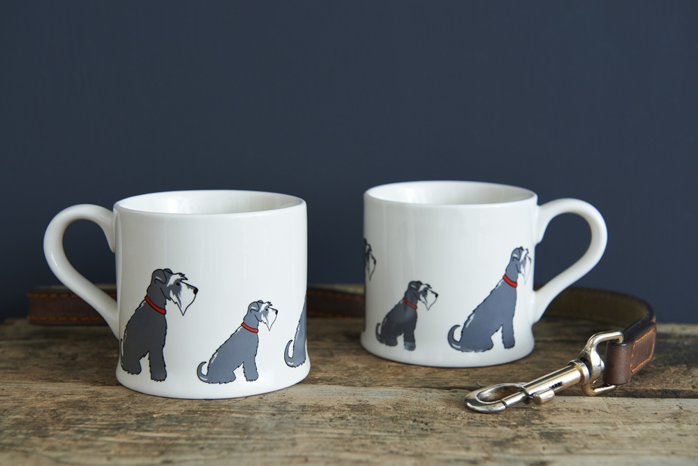 Two Grey Schnauzer mugs