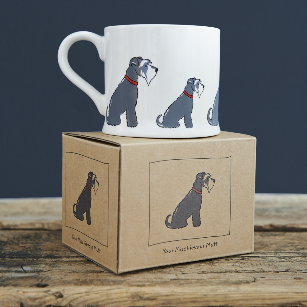 Grey Schnauzer mug and gift box