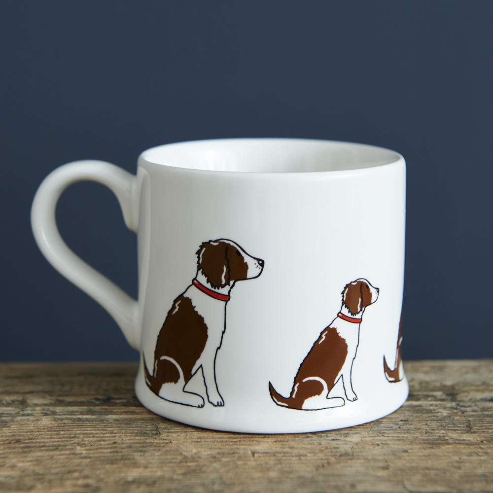 Springer Spaniel (Liver & White) Mug , Mischievous Mutts > Mugs , Springer Spaniel