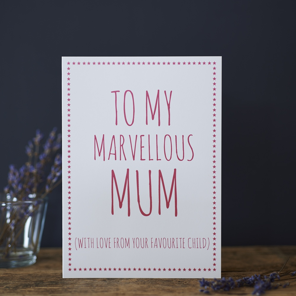 Marvellous Mum love from your favourite child Card , Greeting Cards ,