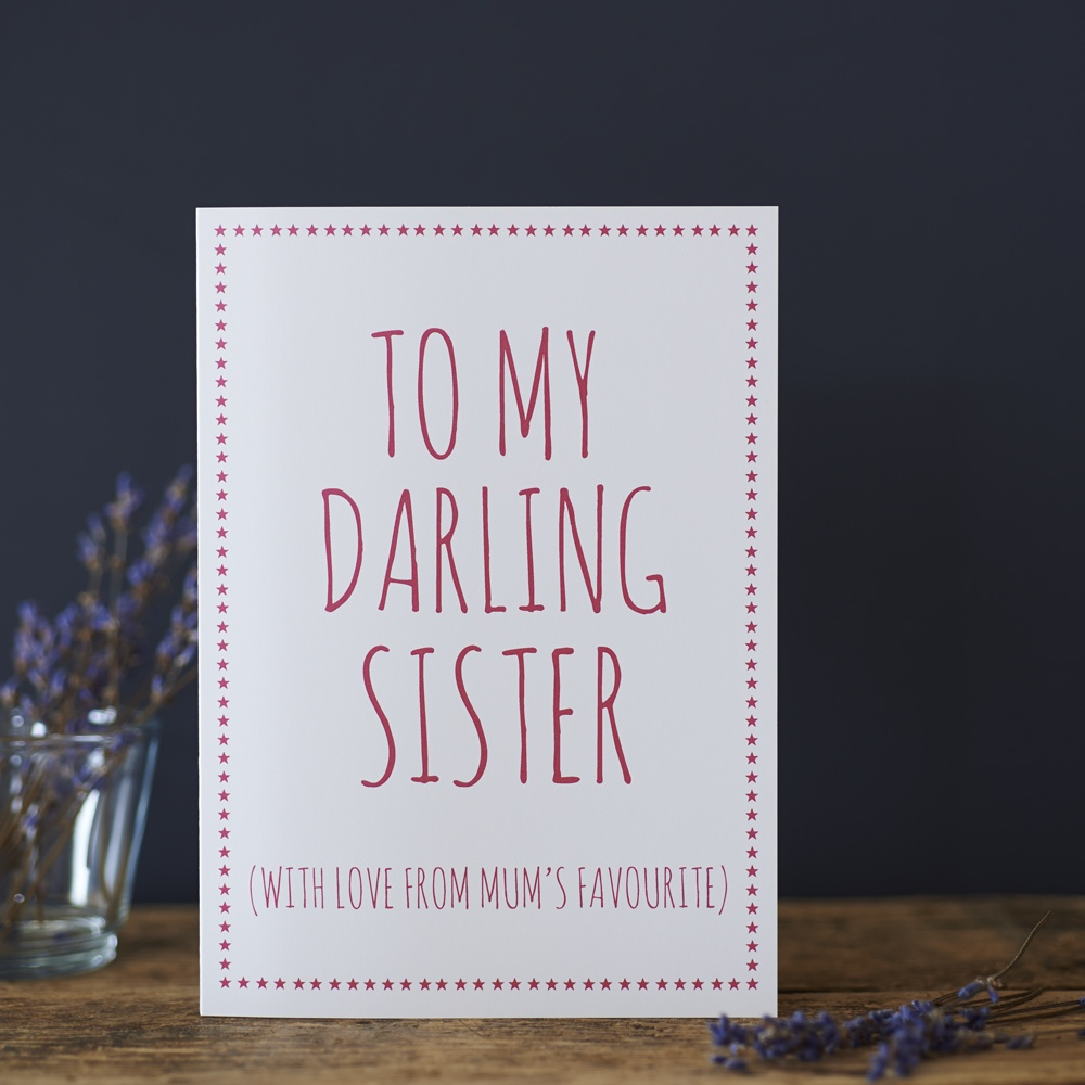 Darling Sister love from Mum's favourite Card , Greeting Cards ,