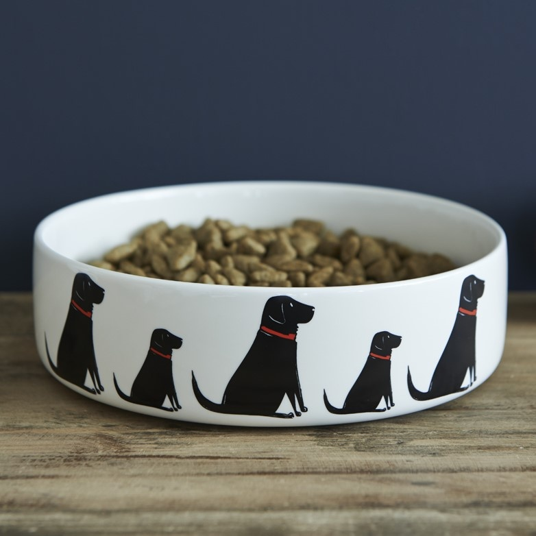Black Labrador Dog Bowl , Mischievous Mutts > Dog bowls , Black Labrador