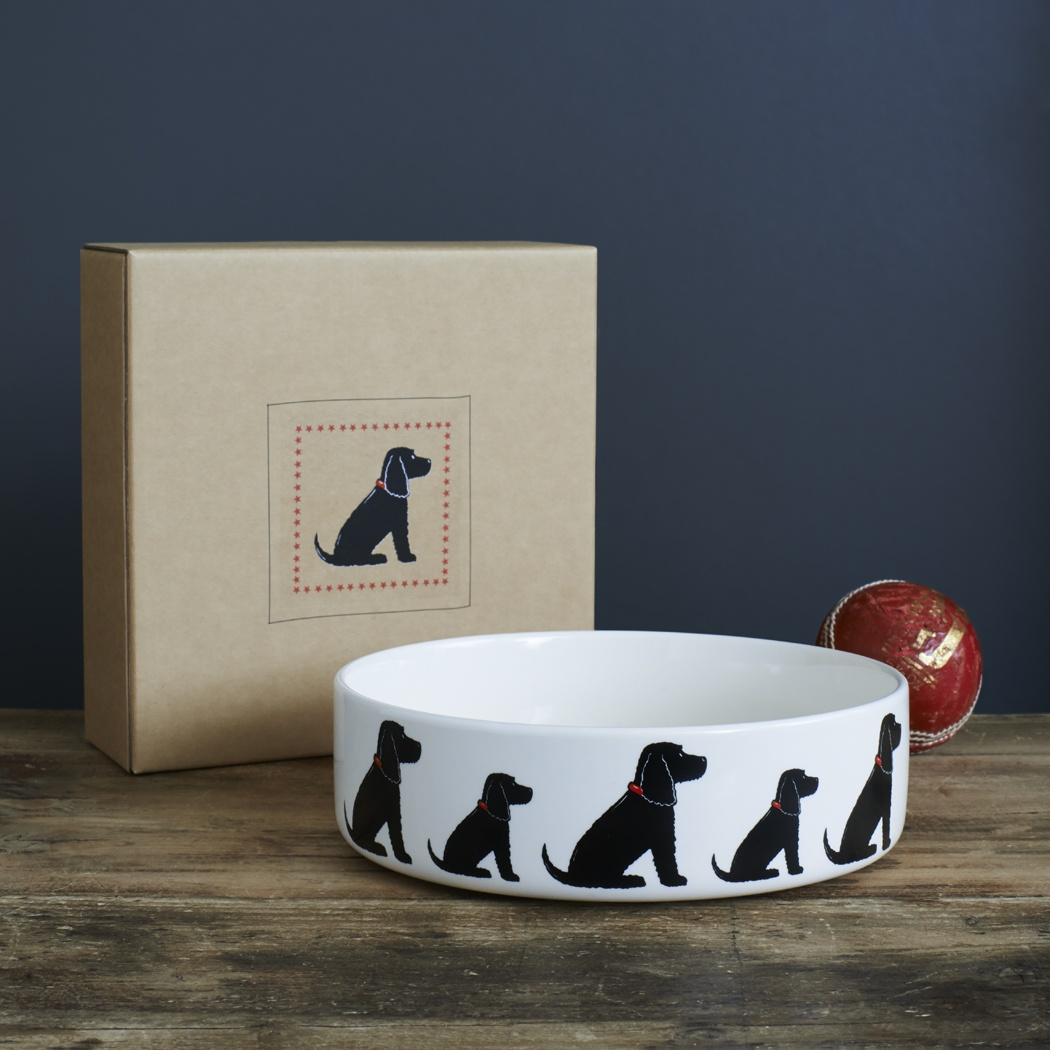 Black Cocker Spaniel Dog Bowl 163 25 95 Mischievous Mutts