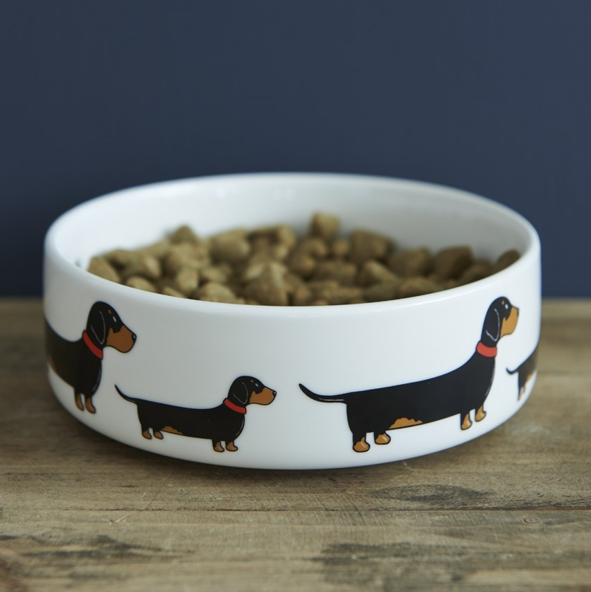 Dachshund Dog Bowl 163 20 95 Mischievous Mutts Dog Bowls