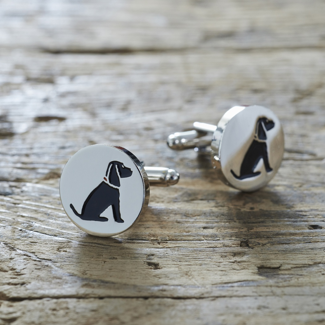 Black Cocker Spaniel Cufflinks , Mischievous Mutts > Cufflinks , Cocker Spaniel