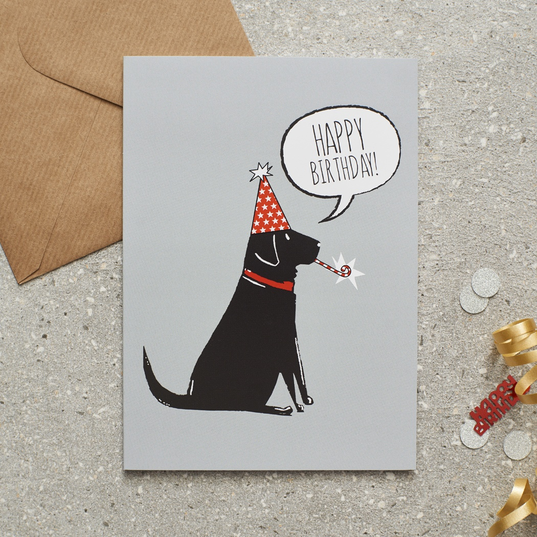 Black Labrador Birthday Card , Mischievous Mutts > Greeting Cards , Black Labrador