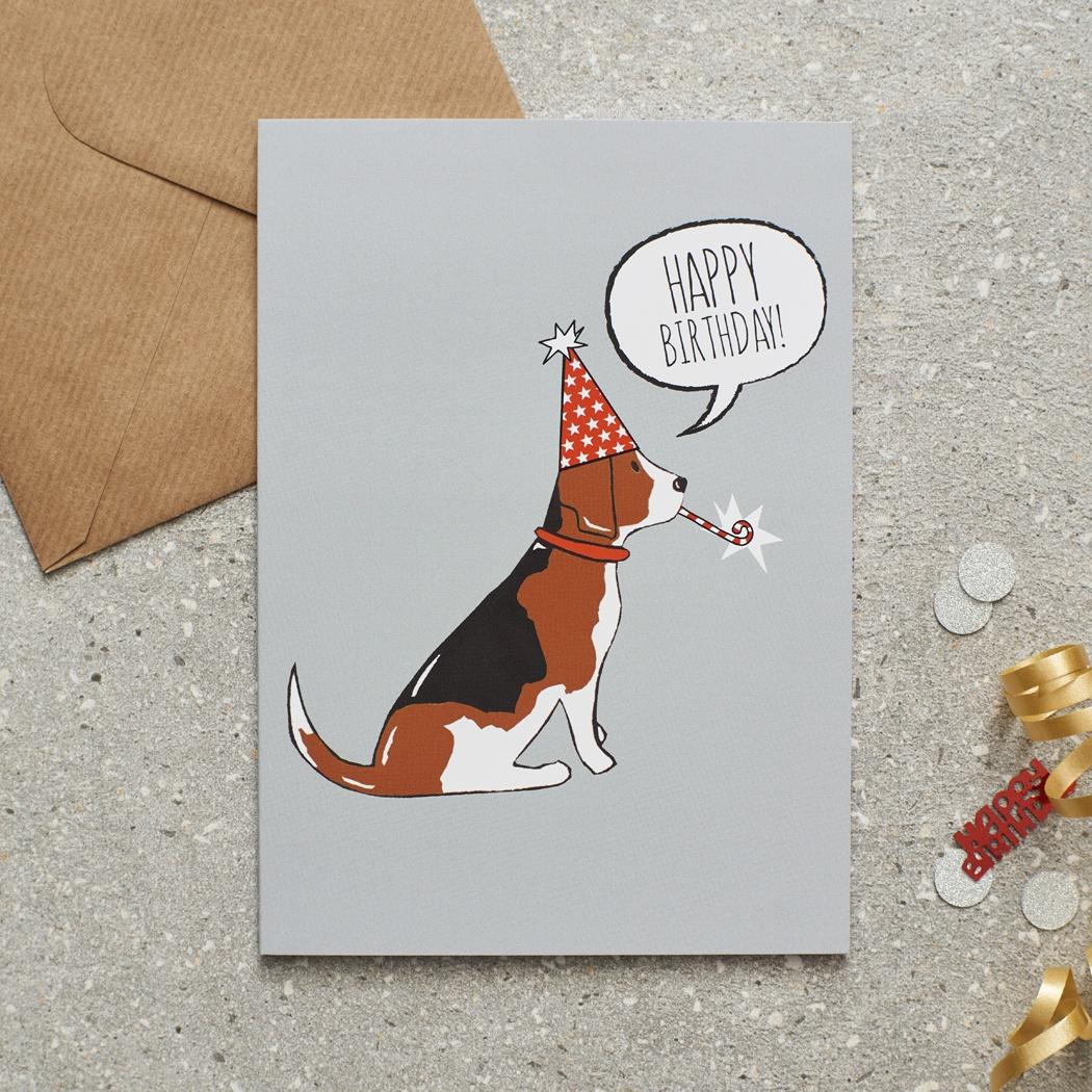 Beagle Birthday Card , Mischievous Mutts > Greeting Cards , Beagle