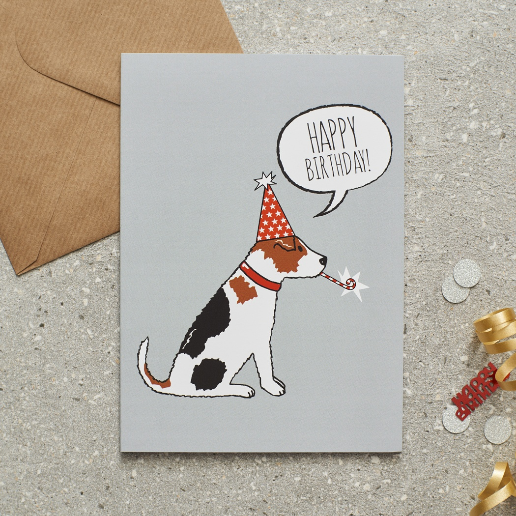 Jack Russell Birthday Card , Mischievous Mutts > Greeting Cards , Jack Russell