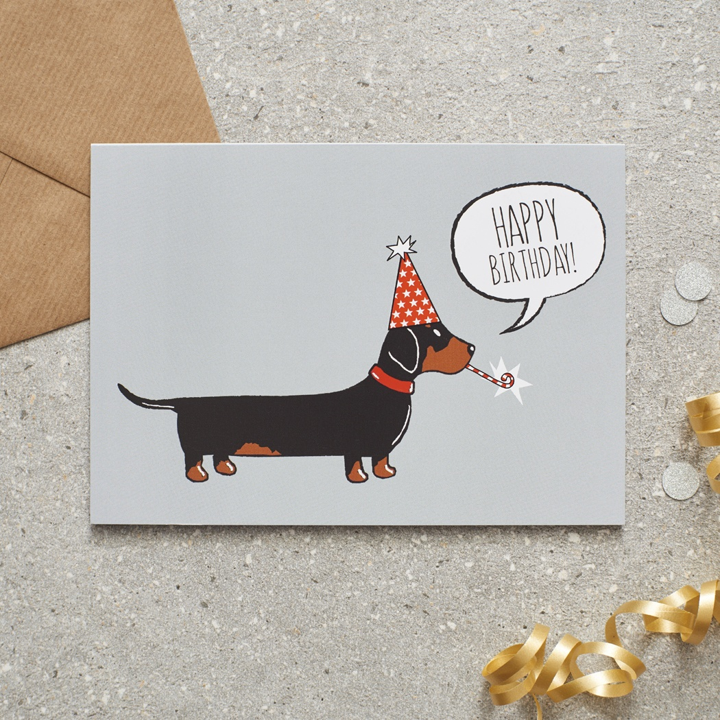 Dachshund Birthday Card , Mischievous Mutts > Greeting Cards , Dachshund