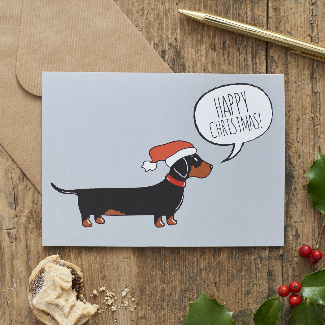 Dachshund Christmas Card , Mischievous Mutts > Greeting Cards , Dachshund