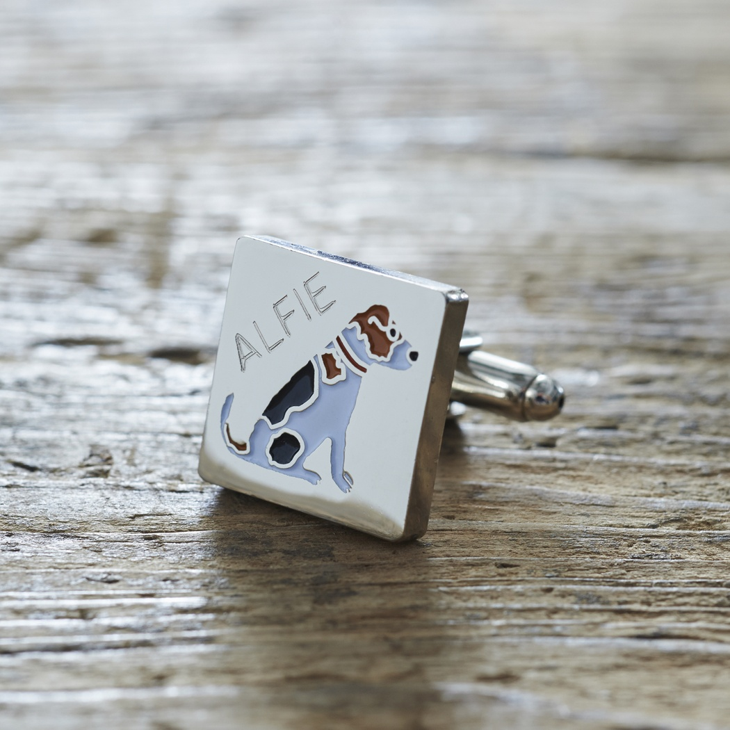 Example Of The Reverse Side Of Our Jack Russell Dog Tag With Gift Box