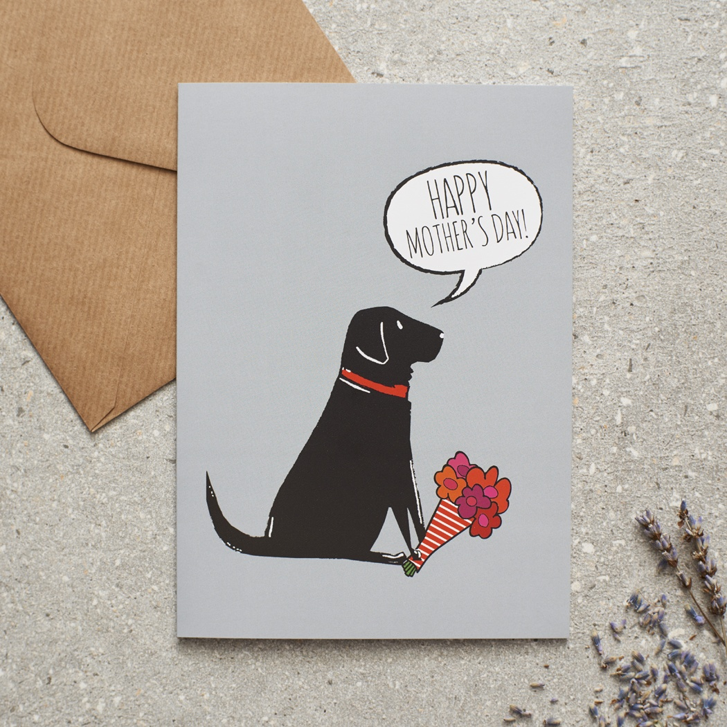 Black Labrador Mother's Day Card , Mischievous Mutts > Greeting Cards , Black Labrador